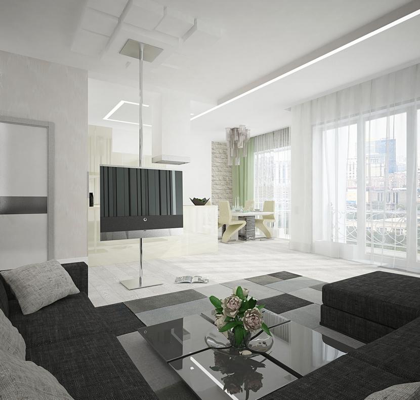 Современная уютная гостиная