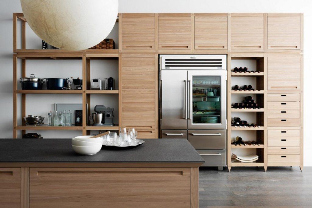 ещё кухня с открытыми шкафами фото реборн